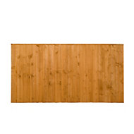 Featheredge Fence panel (W)1.83 m (H)0.93m, Pack of 4