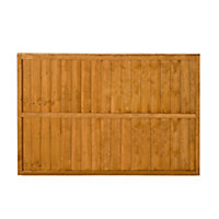 Featheredge Fence panel (W)1.83 m (H)1.23m, Pack of 3