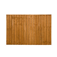 Featheredge Fence panel (W)1.83 m (H)1.23m, Pack of 5