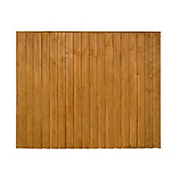 Traditional Feather edge Fence panel (W)1.83m (H)1.54m, Pack of 3