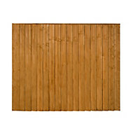 Traditional Feather edge Fence panel (W)1.83m (H)1.54m, Pack of 4