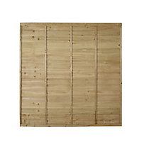 Premier Feather edge Lap Fence panel (W)1.83m (H)1.83m, Pack of 4