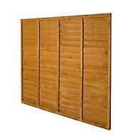 Premier Wood Lap Fence Panel (W)1.83 m (H)1.83m, Pack of 4