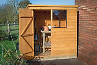 Forest 6x4 Pent Overlap Wooden Shed (Base included)
