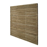 Contemporary Lap Fence panel (W)1.83m (H)1.8m, Pack of 4