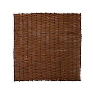 Willow Brown Garden screen (H)1.8m (W)1.8m , Pack of 4