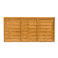 Traditional Wood Lap Fence Panel (W)1.83 m (H)0.91m