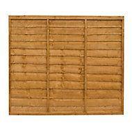 Traditional Wood Lap Fence Panel (W)1.83 m (H)1.52m