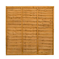 Traditional Wood Lap Fence Panel (W)1.83 m (H)1.83m