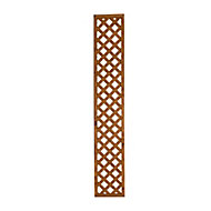 Wooden Trellis cap (H)0.32m(W)1.83m, Pack of 3