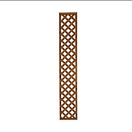 Wooden Trellis cap (H)0.32m(W)1.83m, Pack of 4