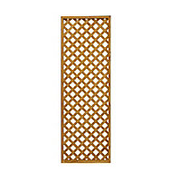 Wooden Diamond lattice Trellis (H)0.61m(W)1.83m, Pack of 5