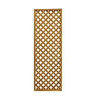 Wooden Diamond lattice Trellis (H)0.61m(W)1.83m, Pack of 5