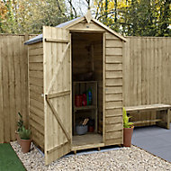 Forest Garden 4x3 Apex Overlap Timber Shed (Base included)