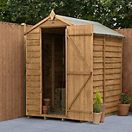 Forest Garden 6x4 Apex Overlap Timber Shed
