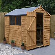 Forest Garden 7x5 Apex Overlap Timber Shed (Base included) - Assembly service included