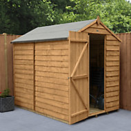Forest Garden 7x5 Apex Overlap Timber Shed (Base included)