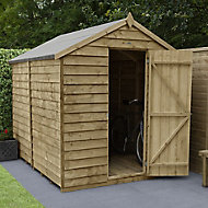 Forest Garden 8x6 Apex Overlap Timber Shed