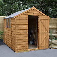 Forest Garden 8x6 Apex Overlap Timber Shed (Base included) - Assembly service included