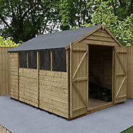 Forest Garden 10x8 Apex Overlap Timber Shed - Assembly service included