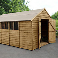 Forest Garden 10x15 Apex Overlap Timber Shed