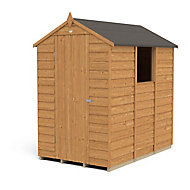 Forest 6x4 Apex Overlap Wooden Shed - Base not included