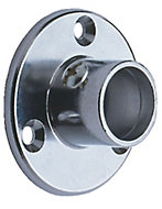 Colorail Chrome effect Rail socket (Dia)19mm, Pack of 2