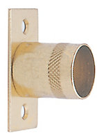 Colorail Brass effect Straight bracket (Dia)19mm, Pack of 2