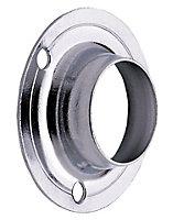Colorail Chrome effect Rail socket (Dia)25mm, Pack of 2