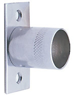 Colorail Chrome effect Straight bracket (Dia)25mm, Pack of 2