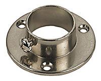 Colorail Nickel effect Rail socket (Dia)25mm, Pack of 2