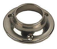 Colorail Nickel effect Rail socket (Dia)19mm, Pack of 2