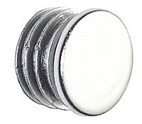 Colorail Plastic Chrome effect End cap, Pack of 2