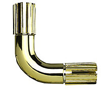 Colorail Brass effect Metal Elbow joiner (Dia)19mm