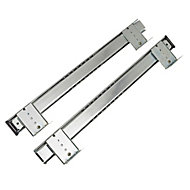 Rothley Steel Adjustable Keyboard Drawer runner (L)400mm, Pack of 2