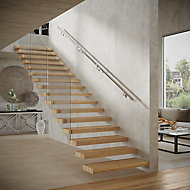 Modern Polished Stainless steel Rounded Handrail kit, (L)3.6m (W)40mm