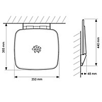 Mira Premium Wall-mounted Shower seat (H)450mm (W)350mm