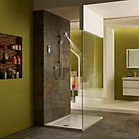 Mira Vision Pumped Rear fed Chrome effect Digital mixer shower