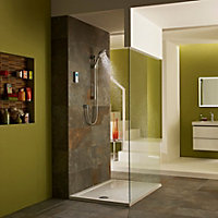 Mira Vision Pumped Rear fed Chrome Thermostatic Digital mixer shower