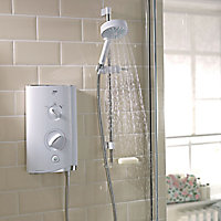Mira Sport Max Airboost White Chrome Electric shower, 10.8 kW