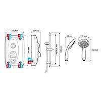 Mira Sprint White Electric Shower, 10.8kW