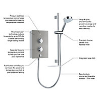Mira Decor Silver effect Electric Shower, 9.5kW