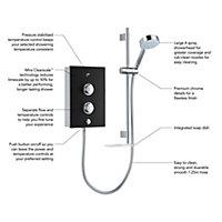Mira Decor Black Onyx Electric shower, 9.5 kW