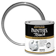 Rust-Oleum Painter's touch White Gloss Multi-surface paint, 0.25L