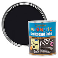 Rust-Oleum Black Matt Magnetic Chalkboard paint, 0.75L