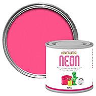 Rust-Oleum Pink Matt Multi-surface Neon paint, 125ml