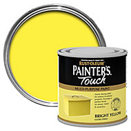 Rust-Oleum Painter's touch Bright yellow Gloss Multi-surface paint, 0.25L