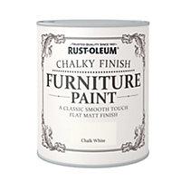 Rust-Oleum Chalk white Chalky Matt Furniture paint 750 ml