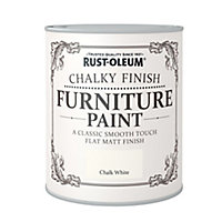 Rust-Oleum Chalk white Chalky effect Matt Furniture paint, 0.75L