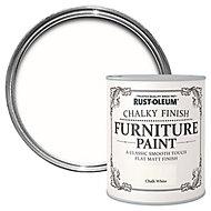 Rust-Oleum Chalk white Chalky effect Matt Furniture paint, 0.13L